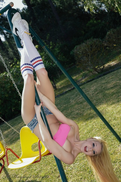 lolly lovewell gets naked on the swings PICTURE 6