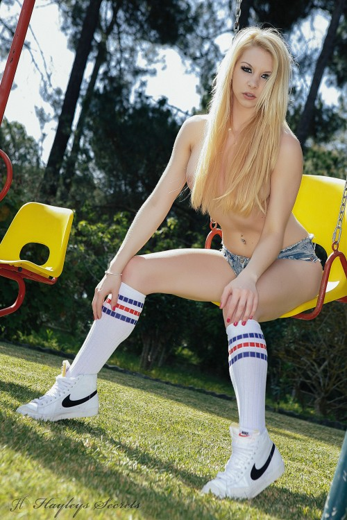 lolly lovewell gets naked on the swings PICTURE 8